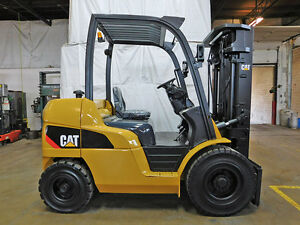 2012 Cat Caterpillar Pd8000 8000lb Pneumatic Forklift Diesel Lift Truck Hi Lo