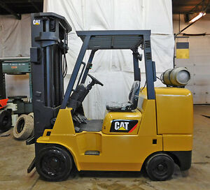 2010 Cat Caterpillar Gc45kswb Cushion Forklift Lpg Lift Truck Hi Lo 99 209
