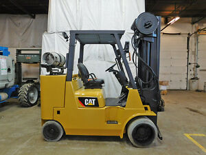 2010 Cat Caterpillar Gc55k spr4 12000lb Smooth Cushion Forklift Lpg Lift Truck