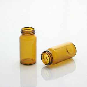100pcs pack 40ml Amber Vial 24 400 Screw Top Hplc Gc Glass Storage Bottle Vials