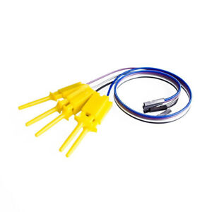Logic Analyzer Cable Probe Test Smt Ic Hook Clip Line 10 Channels Yellow 30cm