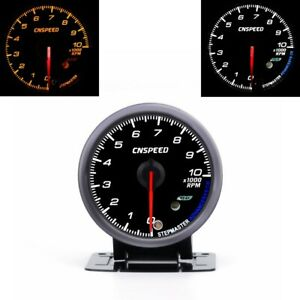 2 5 60mm Car Auto Tachometer 0 10000 Rpm Gauge Meter With Red Amber Lighting
