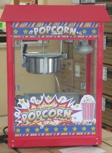 Red Commercial Popcorn Popper Machine By Winco Pop 8r Showtime