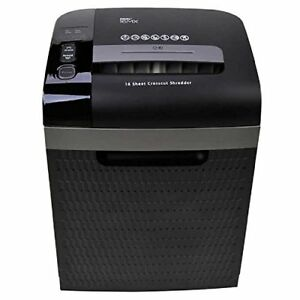 Royal 16 sheet Cross cut Shredder Shreds Credit Cards And Cds Includes Caster