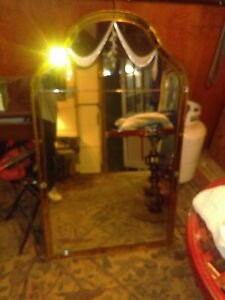 1950 Mirror Dressing Table Mirror With Silver In Lay