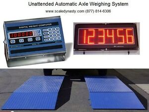 Truck Axle Scale With Unattended Automatic Weighing No Operator Needed