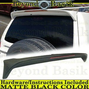 2001 2006 Mitsubishi Montero Matte Black Factory Style Spoiler Rear Wing W Light