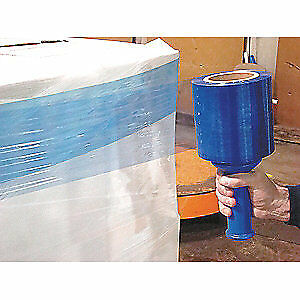 Grainger Approved Hand Stretch Wrap blue 1000 Ft 5in W pk4 15a925 Blue
