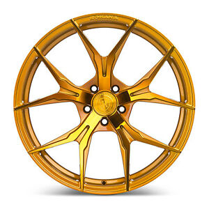 20 Rohana Rfx5 Gloss Gold Concave Wheels For Bmw F12 M6 Gran Coupe 20x9 20x11