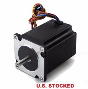 4pcs Nema23 282oz in 3a Stepper Motor Dual Shaft