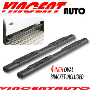 Fit 02 08 Dodge Ram 1500 Quad Cab 4 Side Step Running Board Nerf Bar Blk Oval