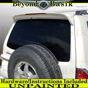 Mitsubishi Montero Spoiler 2001 2006 Factory Style Rear Wing W Light Unpainted