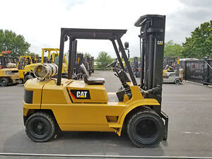 2000 Cat Caterpillar Gp40 8000lb Dual Drive Pneumatic Forklift Lpg Lift Truck