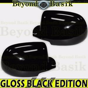 1999 2006 Chevy Silverado Gmc Sierra Gloss Black Mirror Covers Overlays Trims