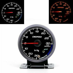 Universal 2 5 60mm Car Turbo Boost Gauge Meter Psi Black Face Pressure Sensor