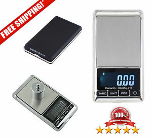 Digital Reloading Pocket Scale 500g X 0 01g Weigh For Jewelry Gold Carat Grain