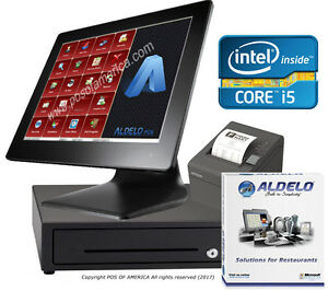 Pos System I5 4gb 64gb Ssd Restaurant Bakery Bar With Aldelo pro Software New
