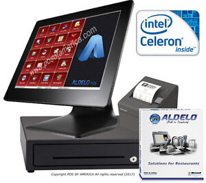 Pos System Celeron 4gb 64gb Ssd Restaurant Bakery Bar Aldelo pro Software New