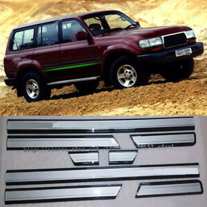 For Toyota Land Cruiser Lc80 Fj80 Abs Side Door Body Molding Cover Trim 1990 97