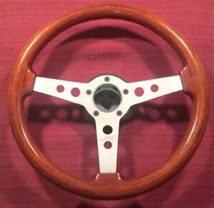 Grant 704 Formula Gt Mahogany Wood Steering Wheel 14 In Diameter 3 In Dish