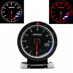 2 5 60mm Car Tachometer Red White Lighting 0 9000 Rpm Gauge Meter Universal