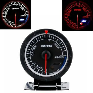 2 5 60mm Pointer Air Fuel Ratio Gauge Red White Led Black Face Car Fuel Monitor