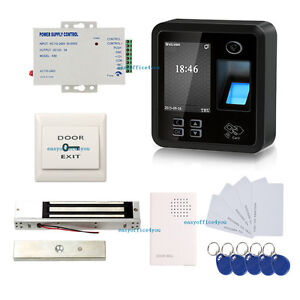 Rj45 Biometric Fingerprint Access Control Systems Kit Magnetic Lock Power Supply