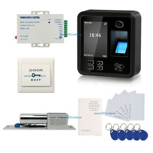 Rj45 Biometric Fingerprint Access Control System Power Supply Electric Bolt Lock
