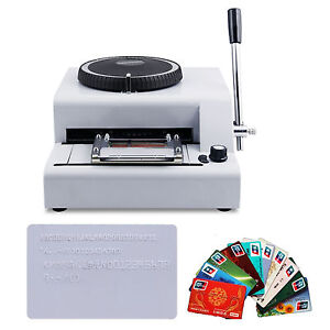 Hot Sell 72 character Pvc Manual Credit Card Embossing Machine Embosser