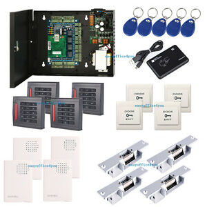 4 Doors Access The Control Systems Kit Electric Strike Fail Secure No Mode Lock