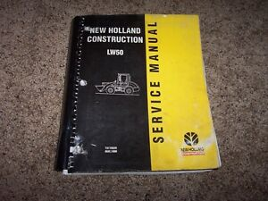 New Holland Lw50 Articulated Wheel Loader Workshop Shop Service Repair Manual