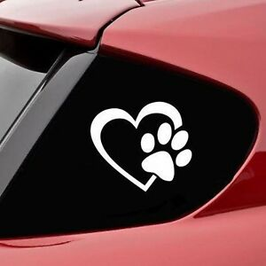Love Dog Paw Pattern Car Stickers Car Styling Window Decal Sticker For Truck
