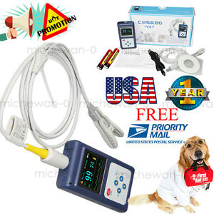 Veterinary Vet Pulse Oximeter Spo2 Oxygen Meter Oled alarm software Us Sale