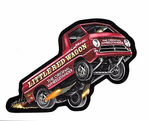 Little Red Wagon Wheelstander Decal Sticker Mopar Nhra Drag Racing A 100 Pickup