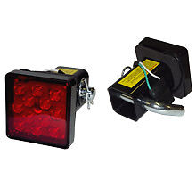 2 Trailer Hitch Cover With 12 Led Brake Light With Pin And Harness