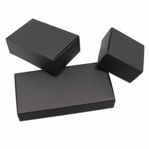 White Black Kraft Paper Box For Gift Wedding Party Favor Soap Candy Jewelry Pack