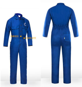 Blue Fr Welding Coverall Flame Retardant Cotton Welder Clothing 1 Set