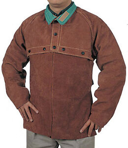 Cowhide Welding Cape Sleeve 14 Bib Combo Leather Welder Jackets