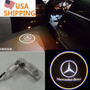 Led Car Door Lights For Mercedes Benz R Class Step Courtesy Shadow Laser Lamp Us