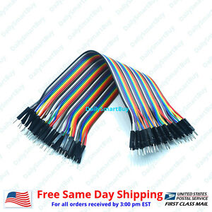 40pcs 20cm 2 54mm Male To Male For Dupont Wire Jump Jumper Cables For Arduino