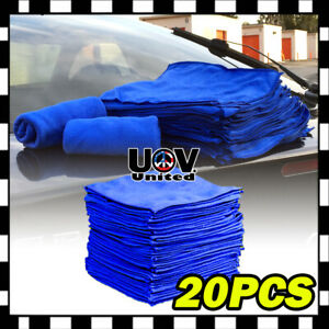 20pcs Microfiber Cleaning Cloth Towel No Scratch Rag Car Polishing Detailing Uu