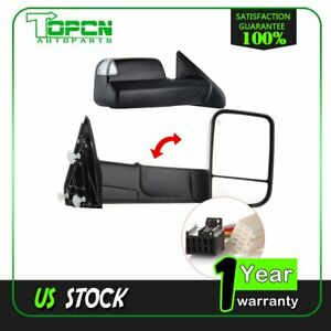 Power Heated Signal Tow For 2010 2015 Dodge Ram 1500 2500 3500 Side Mirrors Pair