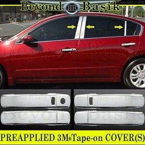 For 2007 2012 Nissan Altima Chrome Door Handle Covers Wsk 6pc Pillar Posts Trims