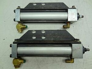 Lot Of 2 Phd Inc Pneumatic Cylinders Avb13 8x51 2 e q Magnetic Piston 7 Stroke
