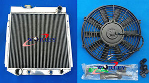 3 Row Aluminum Radiator Fan For Ford Mustang V8 Engine 5 0l 1964 1966 64 65 66