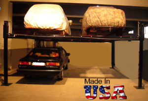 Usa Made Storage Parking Double Wide Car Lift Sgt 9000 17 9 000lbs Capacity
