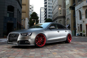20 Rohana Rf1 Gloss Red Concave Wheels For Audi R8 20x9 And 20x11