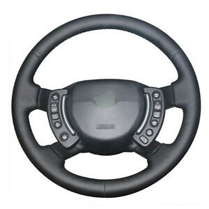 Diy Steering Wheel Cover Black Leather Hand Sewing For Range Rover 2003 2012