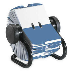 Rolodex Rotary Card File 200 Ct Metal 67236 Black