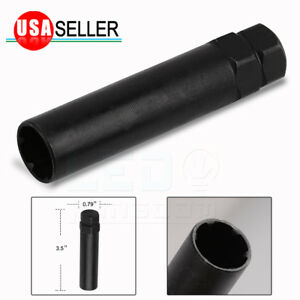 1 Black Small Drive Tuner Socket Key Tool For 6 Spline Lug Nuts 19mm Or 3 4 Hex